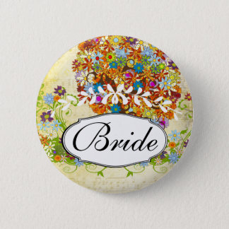 Enchanted Forest Side Branch Wedding Pinback Button