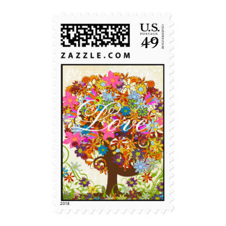 Enchanted Forest Side Branch Wedding Postage