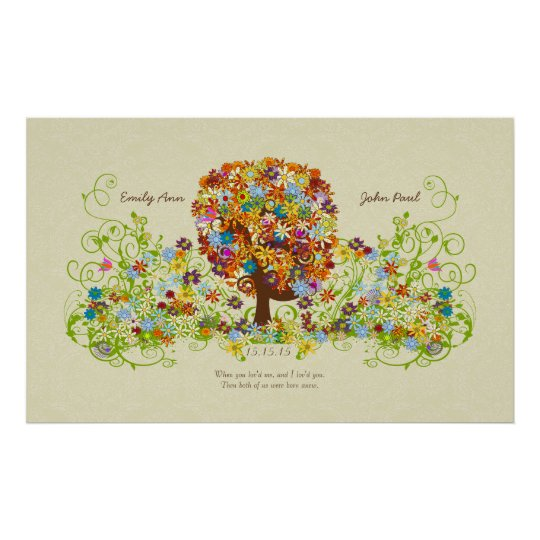 Enchanted Forest Side Branch Wedding Poster