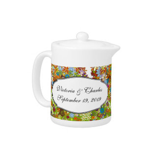 Enchanted Forest Side Branch Wedding Teapot