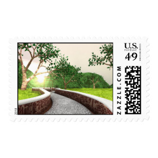 """Enchanted forest stamp shot from """"The Golden Coin"""""""
