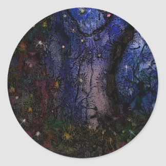 Enchanted Forest Classic Round Sticker