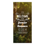 enchanted forest string lights wedding programs rack card template