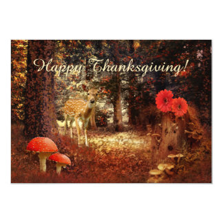 Enchanted Forest Thanksgiving Party Invitation