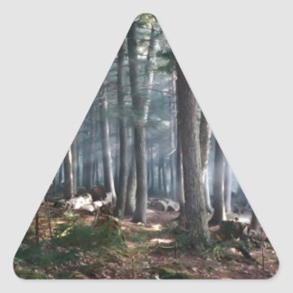 Enchanted Forest Triangle Sticker