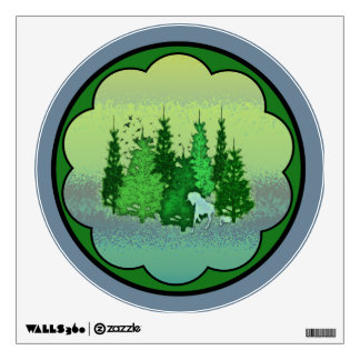 enchanted forest wall decals amp wall stickers zazzle 3d window view children fairytale enchanted forest wall