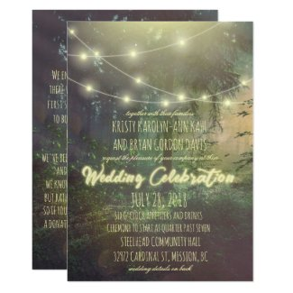 Enchanted Forest Wedding Invitation - String Light