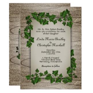 Enchanted Forest Wedding Vines Invitation