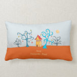 Enchanted Forest With Cottage Lumbar Pillow