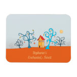 Enchanted Forest With Cottage Magnet