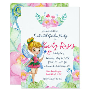 3ae02495489 Enchanted Garden Fairy Birthday Invitation
