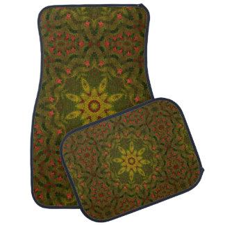 Enchanted Garden Geometric Car Floor Mat Set