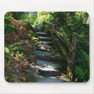 Enchanted Garden Path Mouse Pad