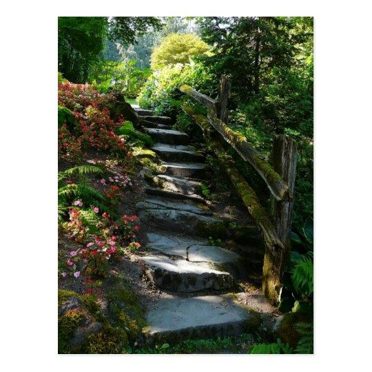 Enchanted Garden Path Postcard