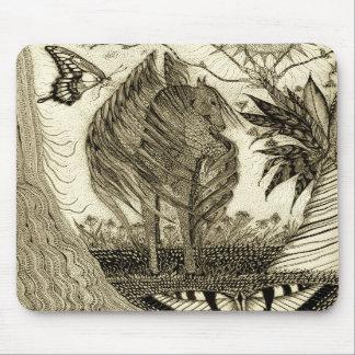 """""""Enchanted Garden"""" Pegasus Mousepad"""