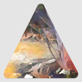 Enchanted Garden Triangle Sticker