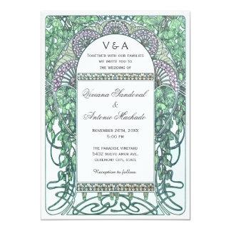 Enchanted Garden Vintage Wedding Invitations