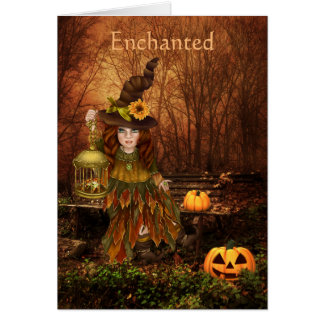 Enchanted Halloween Birthday Wishes Card