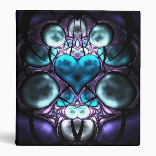 Enchanted Heart Fractal 3-Ring Binder