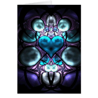 Enchanted Heart Fractal Greetings Cards