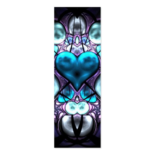 Enchanted Heart Skinny Business Card Book Mark
