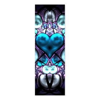 Enchanted Heart Skinny Business Card Book Mark