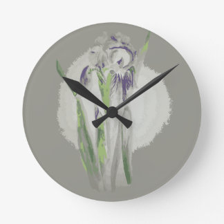 Enchanted Iris wall clock