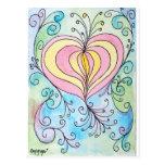 Enchanted love postcard