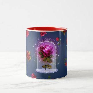 Enchanted Magical Red Rose Beauty & The Beast Two-Tone Coffee Mug