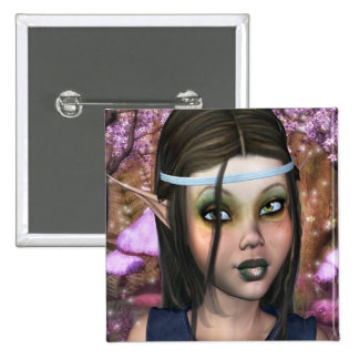 Enchanted Maiden 2 Inch Square Button