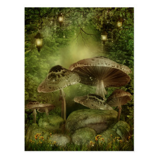 Enchanted Mushrooms Postcard