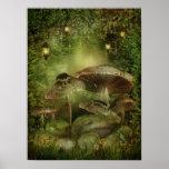 Enchanted Mushrooms Poster