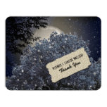 Enchanted Night Blue Tree Personalized Thank You Card
