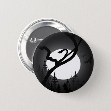 Halloween Themed Enchanted Night Button
