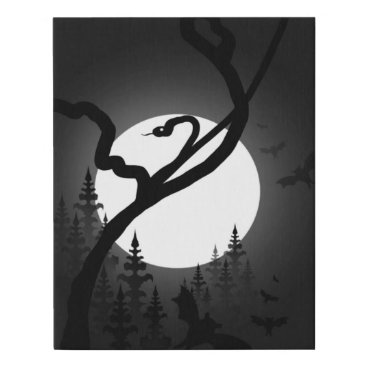 Halloween Themed Enchanted Night Faux Canvas Print