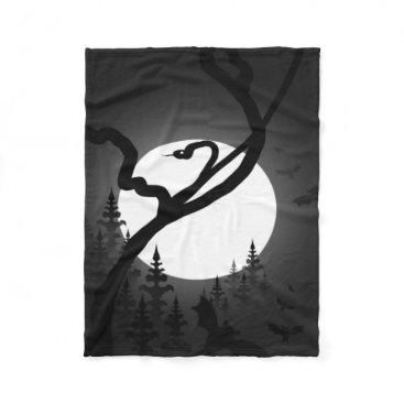 Halloween Themed Enchanted Night Fleece Blanket