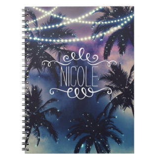 Enchanted Night Sky Evening Beach Lights Journal