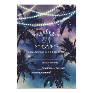 Enchanted Night Sky Evening Beach Lights RSVP Card