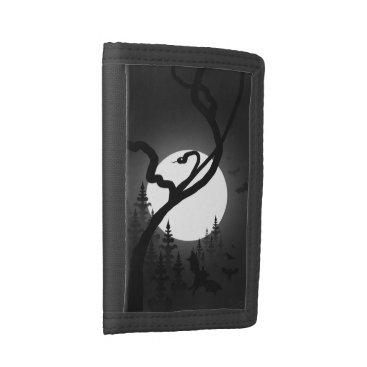 Halloween Themed Enchanted Night Tri-fold Wallet