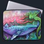 """Enchanted Ocean Art Computer Sleeve<br><div class=""""desc"""">Enchanted Ocean Art Products and Gifts was created from an Original Painting by Laura Barbosa Titled: &quot;Enchanted Ocean&quot;</div>"""