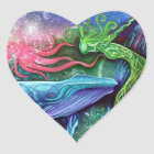 Enchanted Ocean Art Heart Sticker