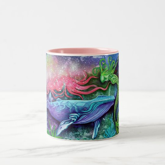 Enchanted Ocean Art Two-Tone Coffee Mug