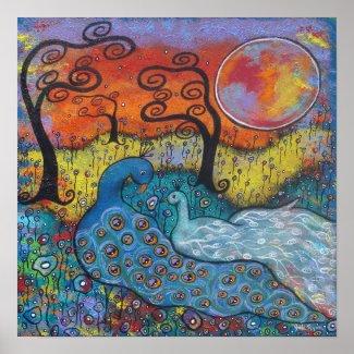 Enchanted Peacocks print