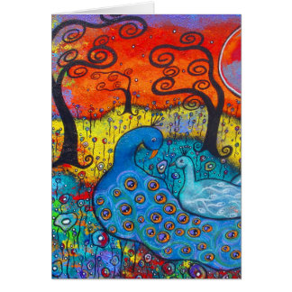 Enchanted Peacocks Valentine's Day Card
