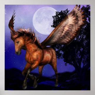 Enchanted Pegasus Poster