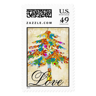 Enchanted Pine Tree Forest Wedding Postage