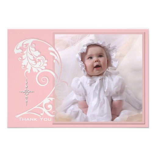 Enchanted Religious Photo Thank You Card Invitation
