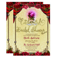 Enchanted Rose Beauty & The Beast Bridal Shower Card