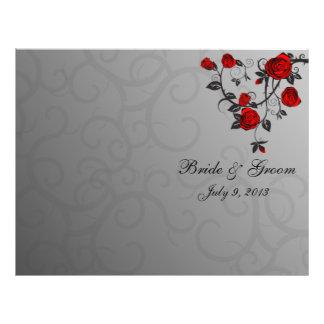 Enchanted Roses Folded Wedding Program