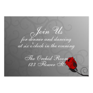Enchanted Roses Reception Cards Business Card